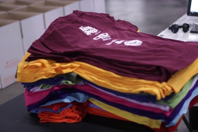 Pile of t-shirts, Teespring tips